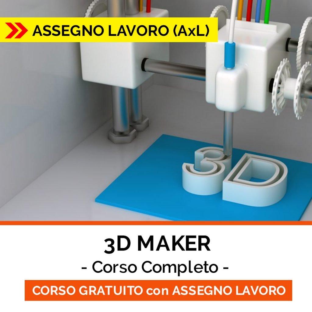 corso 3d maker - ASSEGNO LAVORO