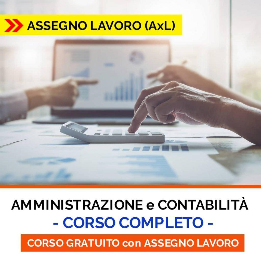 CORSO contabilità ASSEGNO LAVORO