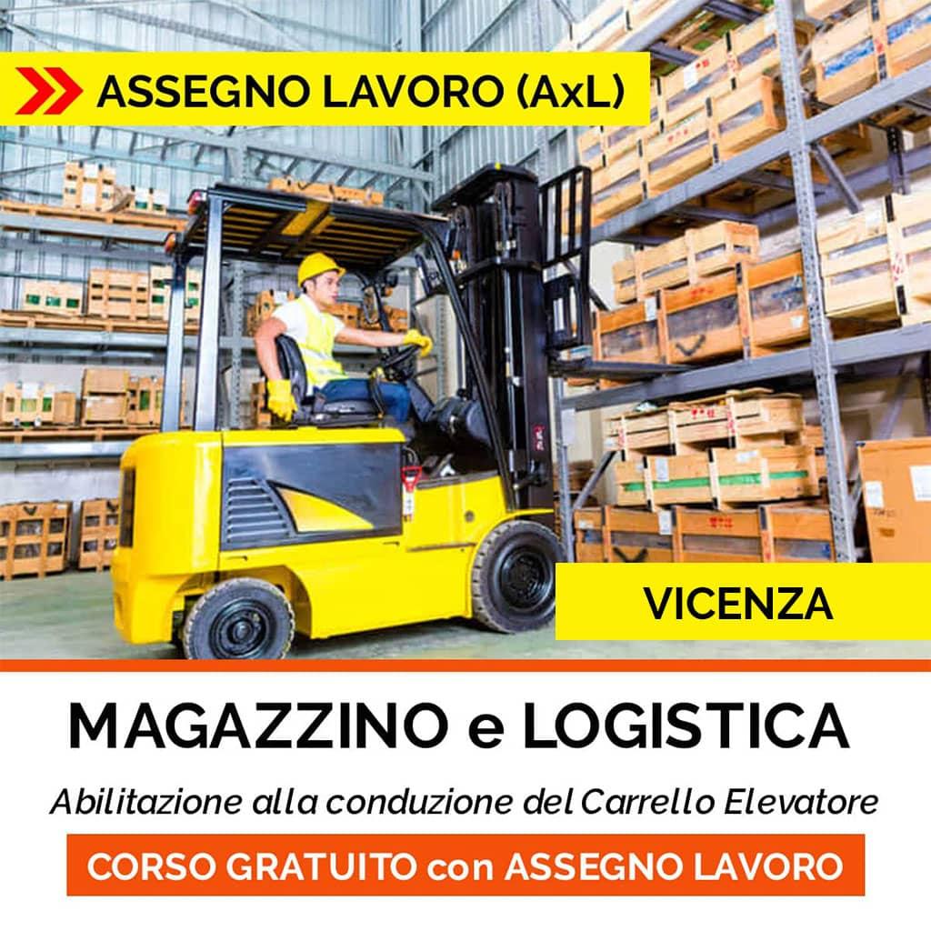 CORSO magazzino logistica EQUASOFT-ASSEGNO per il lavoro