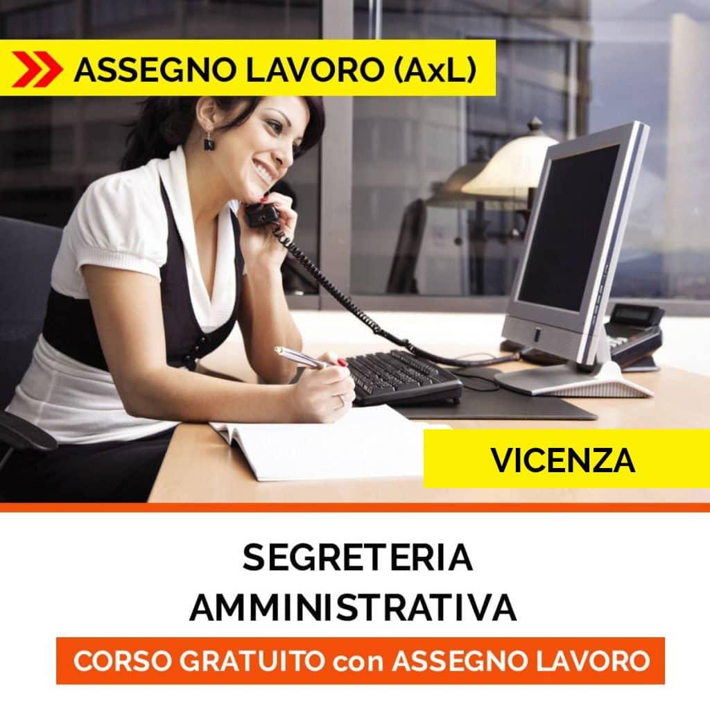 corso segreteria amministrativa vicenza assegno per il lavoro